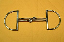 Double Mouth Snaffle Custom D Ring Bit