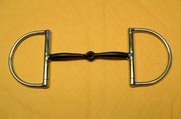 Jointed Snaffle Custom D Ring Bit