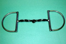 """Jointed 1/4"""" Twisted Steel D Ring"""