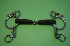 Jointed Rubber Loose Ring Pelham