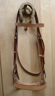 EquuSport Work Bridle with Snap Cheeks