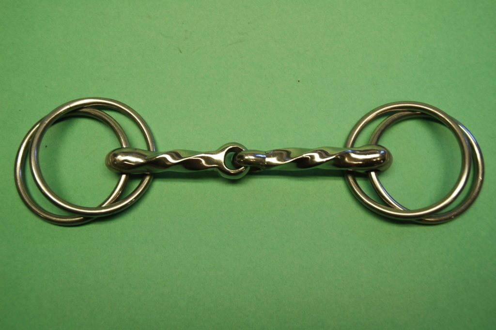 D Ring Snaffle Bit With Curb Chain Wilson Twisted Snaffle...
