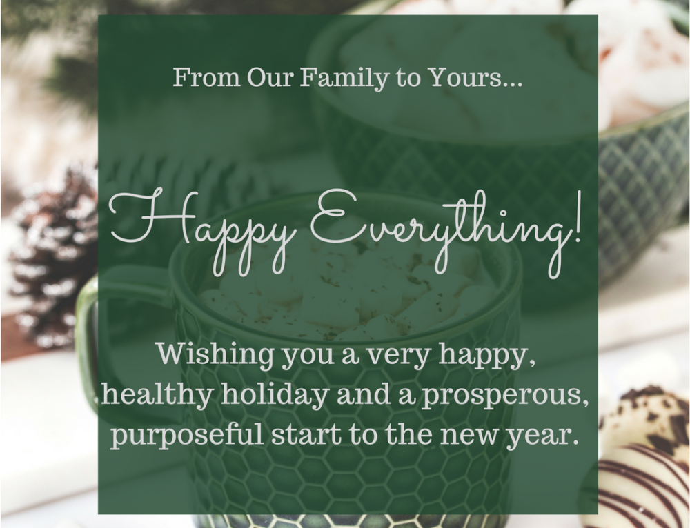 Holiday Wishes to You!
