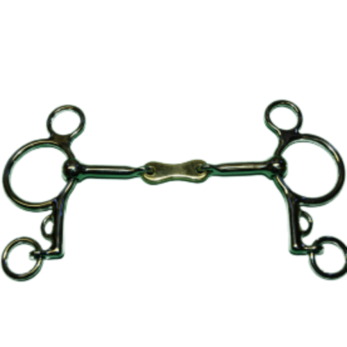 French Loose Ring Pelham with Brass Center