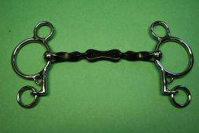 Loose Ring French Twisted Pelham Bit