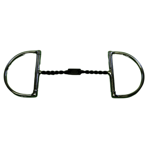 Twisted Square Wire D Ring