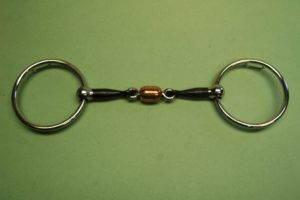 """Loose Ring Bit with 3/8"""" Copper Roller and 12/5 Loops (Reverse)"""