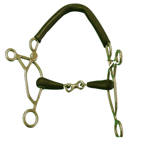 French Vulcanite Hackamore Combination